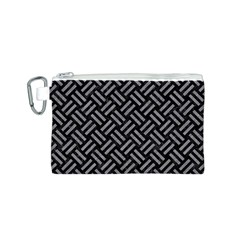 Woven2 Black Marble & Gray Colored Pencil Canvas Cosmetic Bag (s)