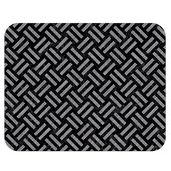 Woven2 Black Marble & Gray Colored Pencil Double Sided Flano Blanket (medium)