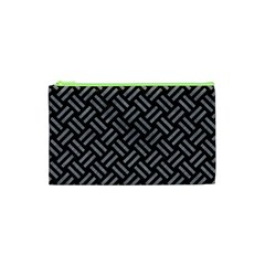 Woven2 Black Marble & Gray Colored Pencil Cosmetic Bag (xs)