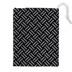 Woven2 Black Marble & Gray Colored Pencil Drawstring Pouches (xxl)