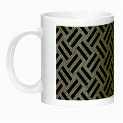 Woven2 Black Marble & Gray Colored Pencil (r) Night Luminous Mugs