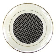 Woven2 Black Marble & Gray Colored Pencil (r) Porcelain Plates