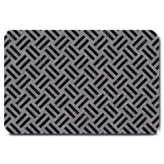 Woven2 Black Marble & Gray Colored Pencil (r) Large Doormat