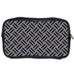 Woven2 Black Marble & Gray Colored Pencil (r) Toiletries Bags 2 Side