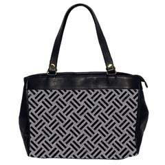 Woven2 Black Marble & Gray Colored Pencil (r) Office Handbags (2 Sides)