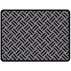 Woven2 Black Marble & Gray Colored Pencil (r) Fleece Blanket (large)