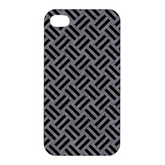 Woven2 Black Marble & Gray Colored Pencil (r) Apple Iphone 4/4s Hardshell Case