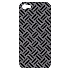 Woven2 Black Marble & Gray Colored Pencil (r) Apple Iphone 5 Hardshell Case