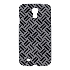 Woven2 Black Marble & Gray Colored Pencil (r) Samsung Galaxy S4 I9500/i9505 Hardshell Case