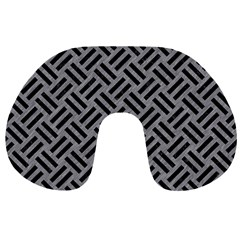 Woven2 Black Marble & Gray Colored Pencil (r) Travel Neck Pillows