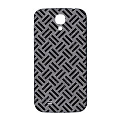 Woven2 Black Marble & Gray Colored Pencil (r) Samsung Galaxy S4 I9500/i9505  Hardshell Back Case