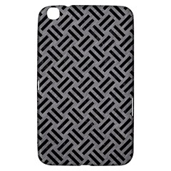 Woven2 Black Marble & Gray Colored Pencil (r) Samsung Galaxy Tab 3 (8 ) T3100 Hardshell Case