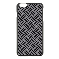 Woven2 Black Marble & Gray Colored Pencil (r) Apple Iphone 6 Plus/6s Plus Black Enamel Case