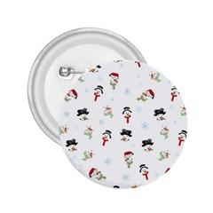 Snowman Pattern 2 25  Buttons