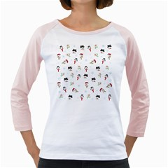 Snowman Pattern Girly Raglans
