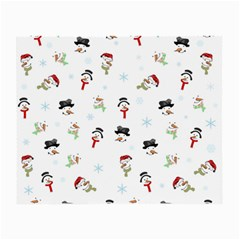 Snowman Pattern Small Glasses Cloth (2 Side)