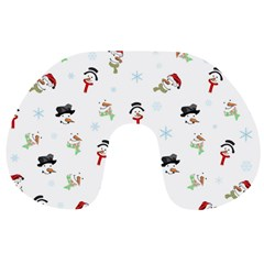 Snowman Pattern Travel Neck Pillows