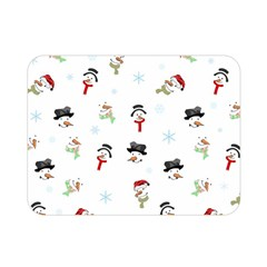 Snowman Pattern Double Sided Flano Blanket (mini)
