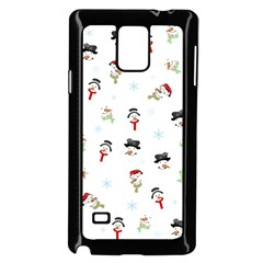 Snowman Pattern Samsung Galaxy Note 4 Case (black)