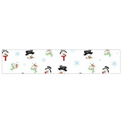 Snowman Pattern Flano Scarf (small)