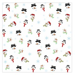 Snowman Pattern Large Satin Scarf (square)