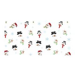 Snowman Pattern Satin Wrap