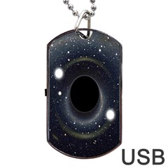 Brightest Cluster Galaxies And Supermassive Black Holes Dog Tag Usb Flash (one Side)