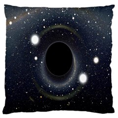 Brightest Cluster Galaxies And Supermassive Black Holes Large Cushion Case (one Side)