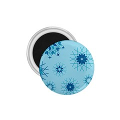 Blue Winter Snowflakes Star 1 75  Magnets