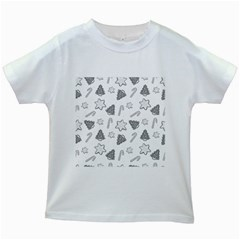 Ginger Cookies Christmas Pattern Kids White T Shirts
