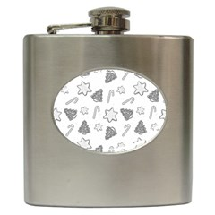 Ginger Cookies Christmas Pattern Hip Flask (6 Oz)