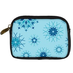 Blue Winter Snowflakes Star Digital Camera Cases