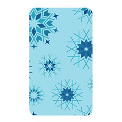 Blue Winter Snowflakes Star Memory Card Reader