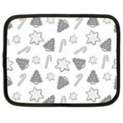 Ginger Cookies Christmas Pattern Netbook Case (large)