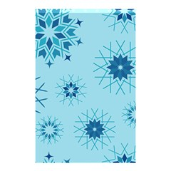 Blue Winter Snowflakes Star Shower Curtain 48  X 72  (small)