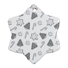 Ginger Cookies Christmas Pattern Snowflake Ornament (two Sides)