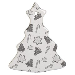 Ginger Cookies Christmas Pattern Christmas Tree Ornament (two Sides)