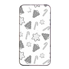 Ginger Cookies Christmas Pattern Apple Iphone 4/4s Seamless Case (black)