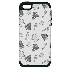 Ginger Cookies Christmas Pattern Apple Iphone 5 Hardshell Case (pc+silicone)