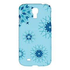 Blue Winter Snowflakes Star Samsung Galaxy S4 I9500/i9505 Hardshell Case