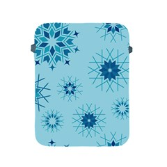 Blue Winter Snowflakes Star Apple Ipad 2/3/4 Protective Soft Cases