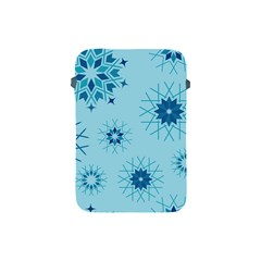 Blue Winter Snowflakes Star Apple Ipad Mini Protective Soft Cases