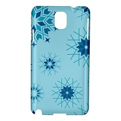 Blue Winter Snowflakes Star Samsung Galaxy Note 3 N9005 Hardshell Case