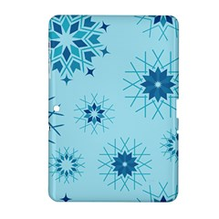 Blue Winter Snowflakes Star Samsung Galaxy Tab 2 (10 1 ) P5100 Hardshell Case
