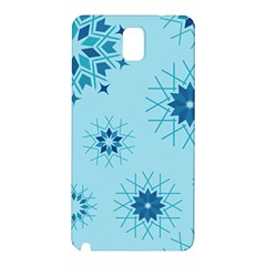 Blue Winter Snowflakes Star Samsung Galaxy Note 3 N9005 Hardshell Back Case