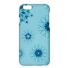 Blue Winter Snowflakes Star Apple Iphone 6 Plus/6s Plus Hardshell Case
