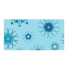 Blue Winter Snowflakes Star Satin Wrap