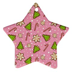 Ginger Cookies Christmas Pattern Ornament (star)