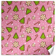 Ginger Cookies Christmas Pattern Canvas 12  X 12