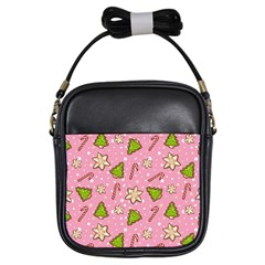 Ginger Cookies Christmas Pattern Girls Sling Bags